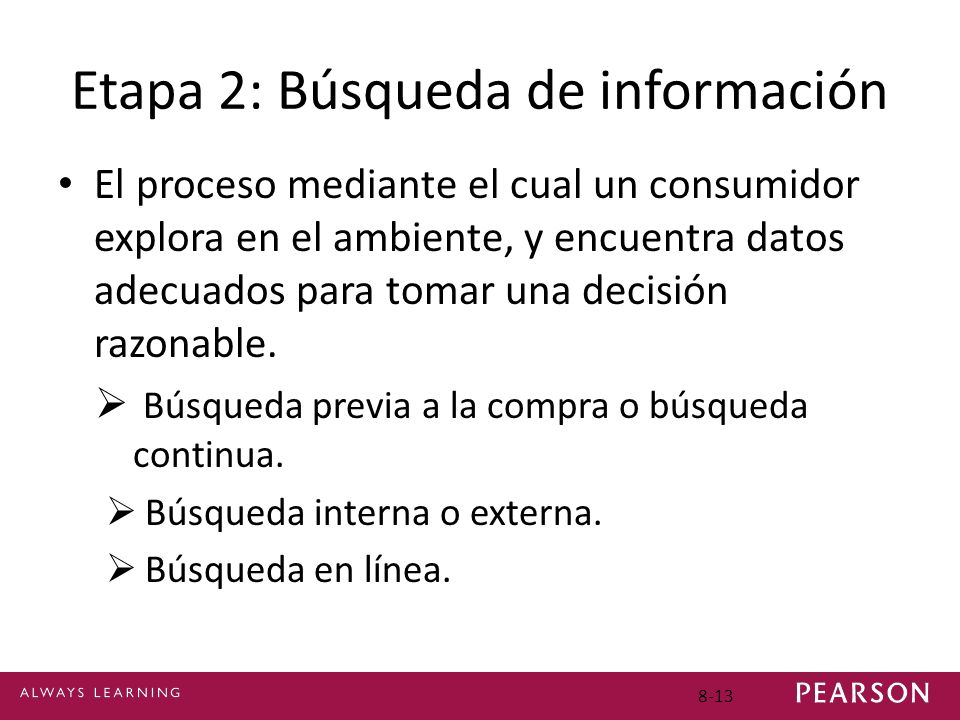 Etapa 2: Búsqueda de información