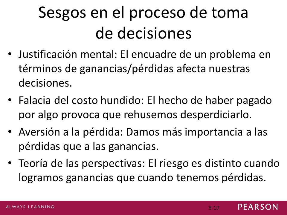 Sesgos en el proceso de toma de decisiones