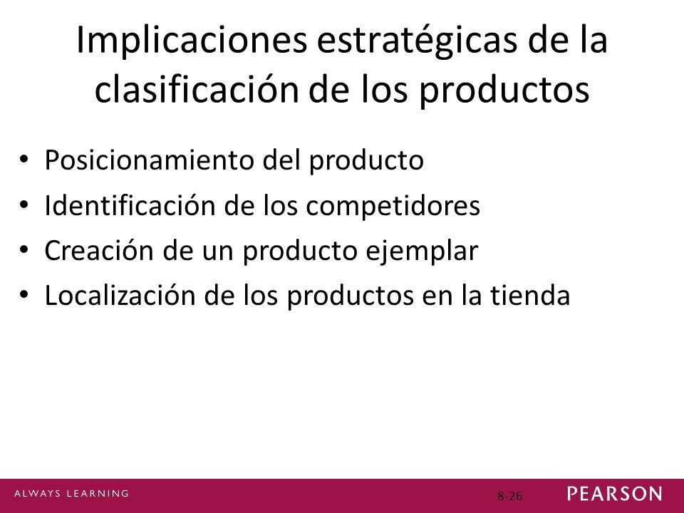 Implicaciones estratégicas de la clasificación de los productos