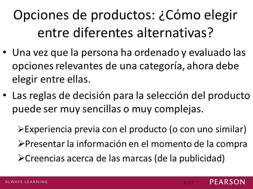 Opciones de productos: ¿Cómo elegir entre diferentes alternativas