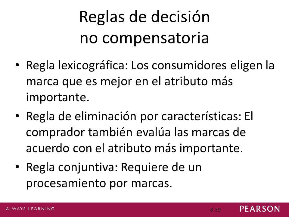 Reglas de decisión no compensatoria