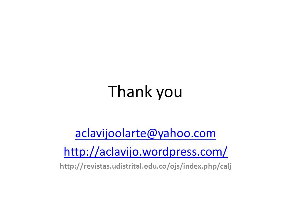 Thank you aclavijoolarte@yahoo.com http://aclavijo.wordpress.com/