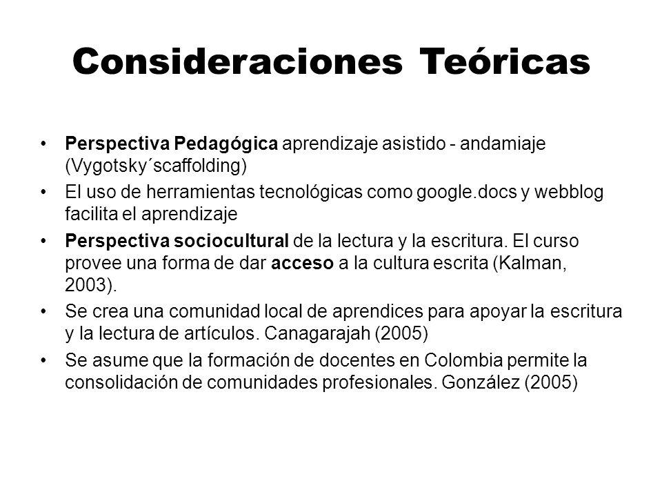 Consideraciones Teóricas