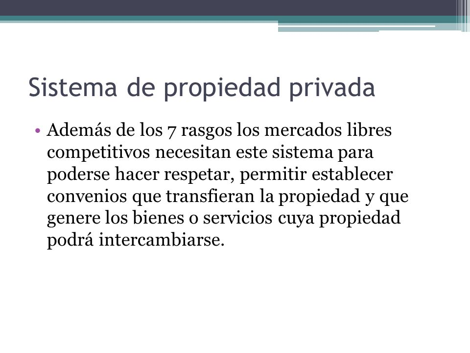 Sistema de propiedad privada