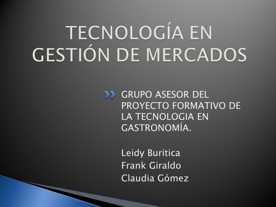 TECNOLOGÍA EN GESTIÓN DE MERCADOS