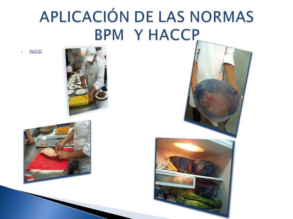 APLICACIÓN DE LAS NORMAS BPM Y HACCP