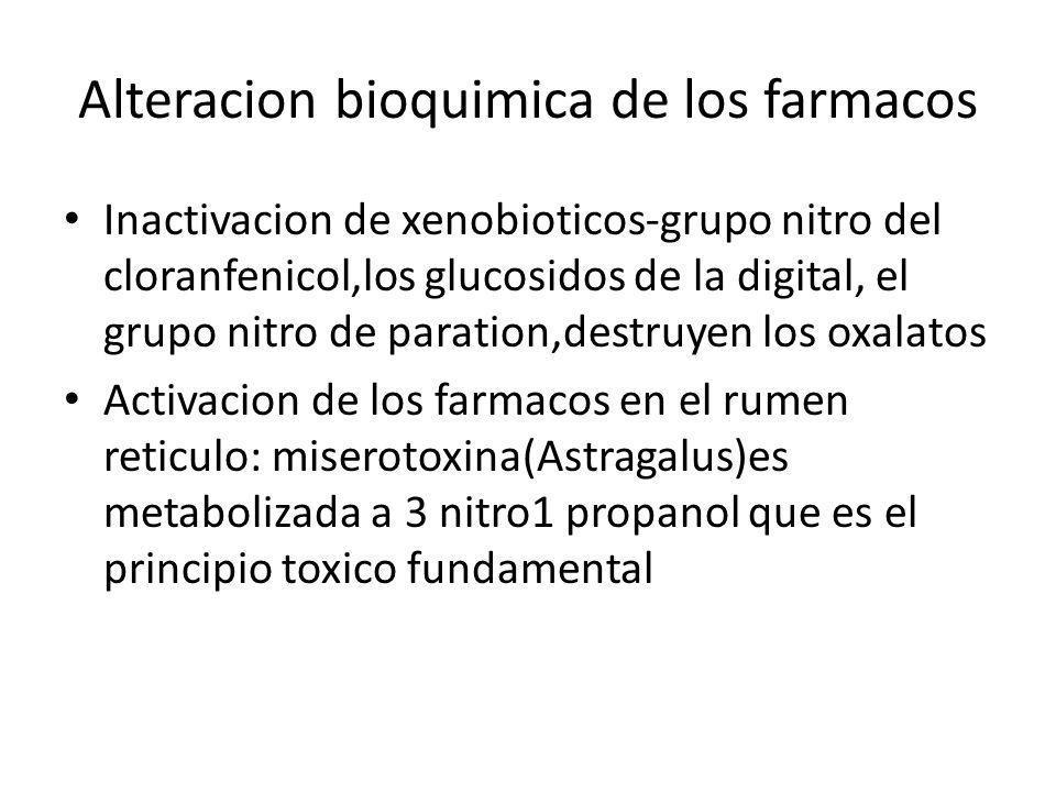Alteracion bioquimica de los farmacos