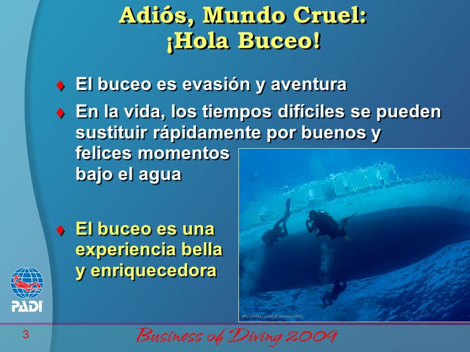 Adiós, Mundo Cruel: ¡Hola Buceo!