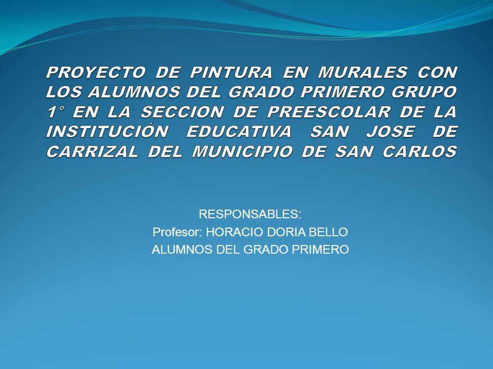 RESPONSABLES: Profesor: HORACIO DORIA BELLO ALUMNOS DEL GRADO PRIMERO
