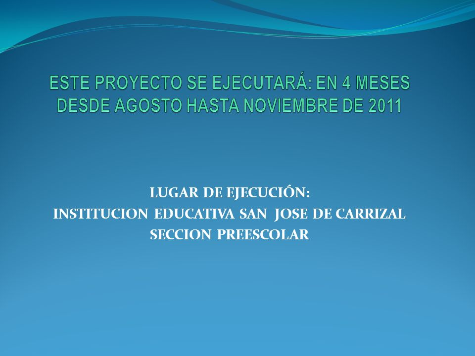 INSTITUCION EDUCATIVA SAN JOSE DE CARRIZAL