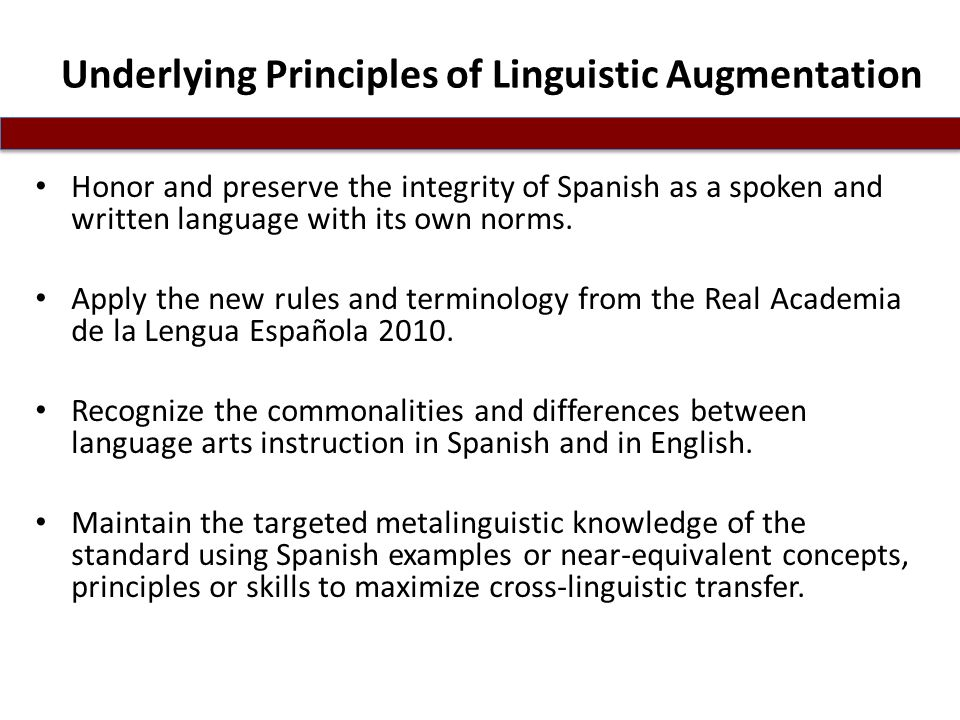 Underlying Principles of Linguistic Augmentation