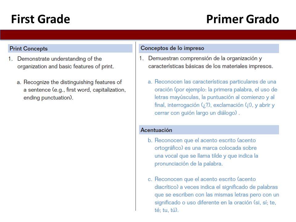 First Grade Primer Grado