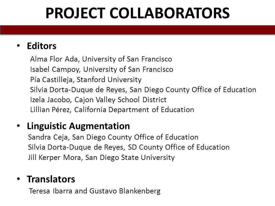 PROJECT COLLABORATORS