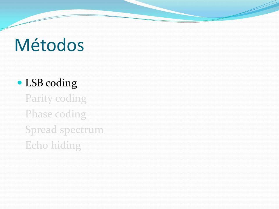 Métodos LSB coding Parity coding Phase coding Spread spectrum