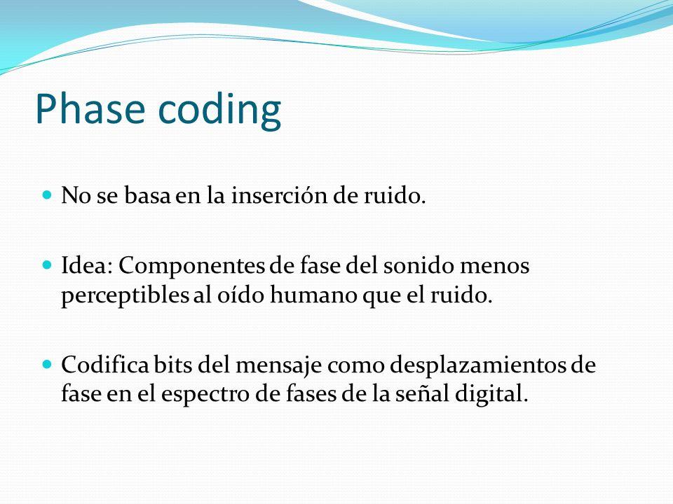 Phase coding No se basa en la inserción de ruido.