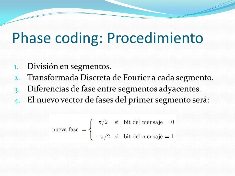 Phase coding: Procedimiento