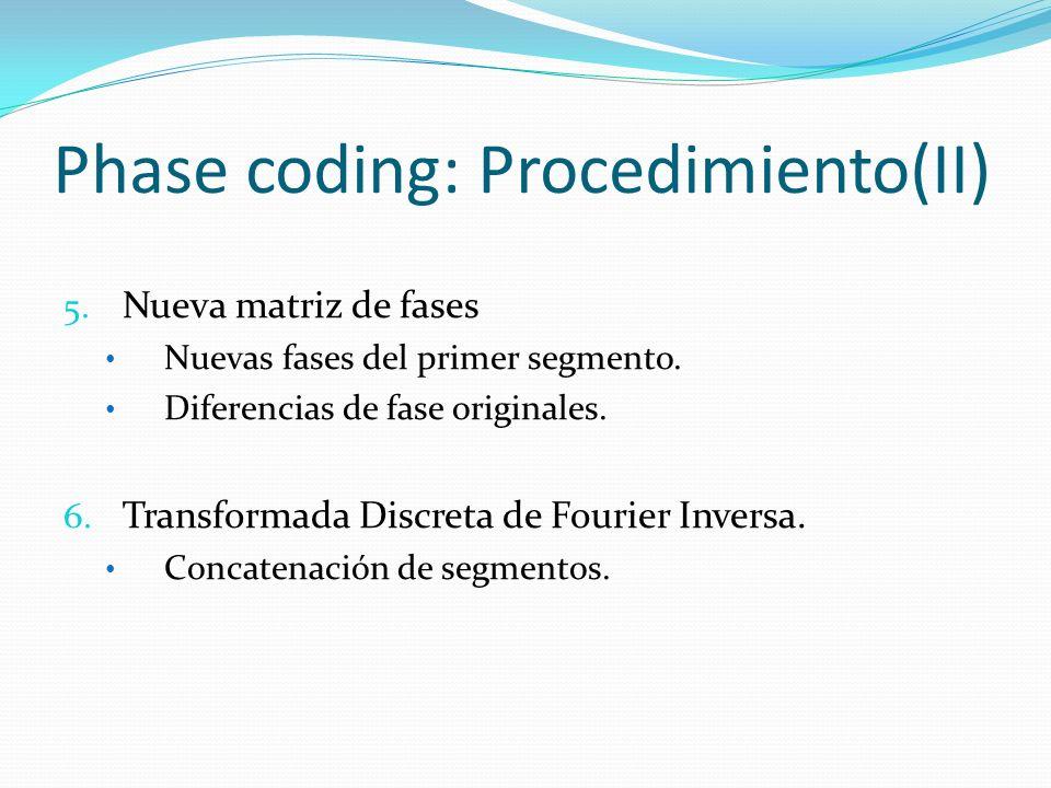 Phase coding: Procedimiento(II)