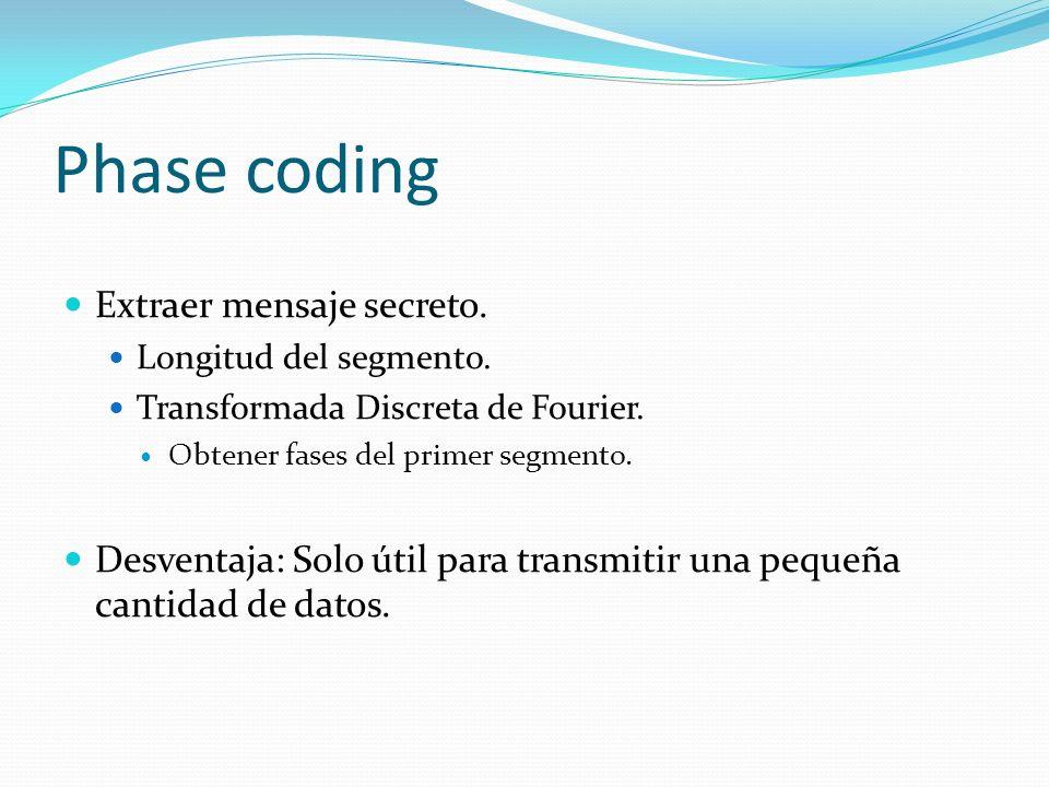 Phase coding Extraer mensaje secreto.