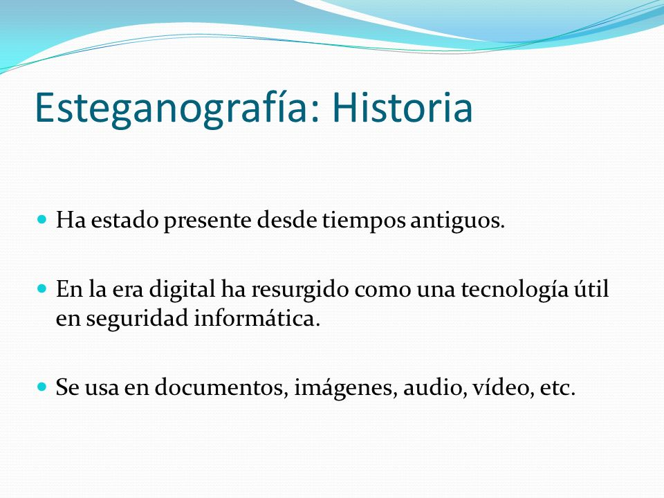 Esteganografía: Historia