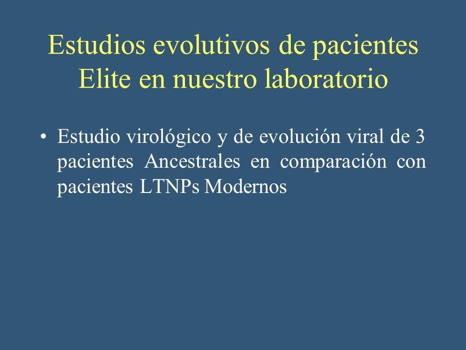 Estudios evolutivos de pacientes Elite en nuestro laboratorio
