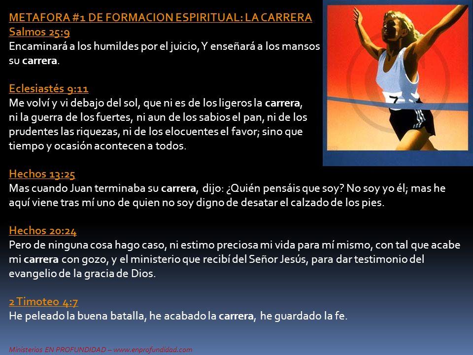 METAFORA #1 DE FORMACION ESPIRITUAL: LA CARRERA