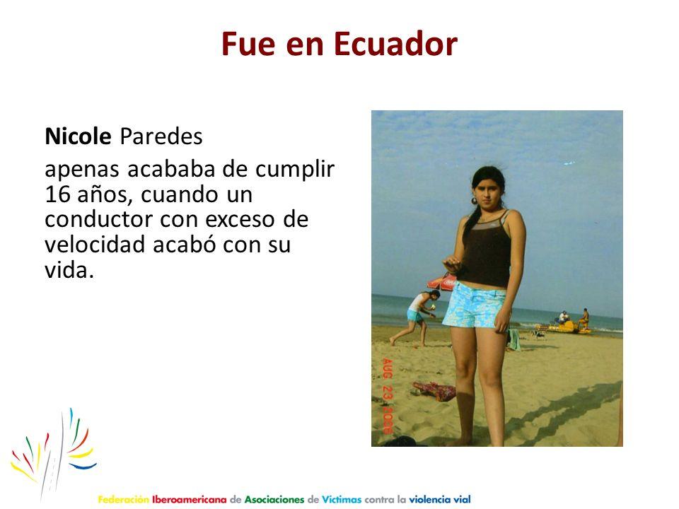 Fue en Ecuador Nicole Paredes