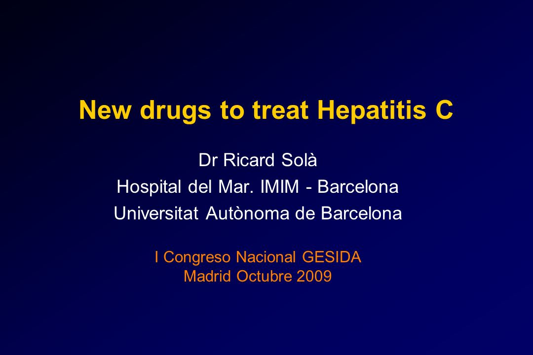 New drugs to treat Hepatitis C