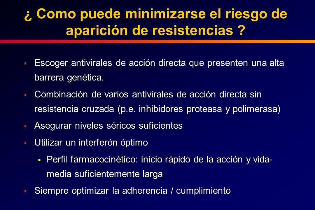 ¿ Como puede minimizarse el riesgo de aparición de resistencias