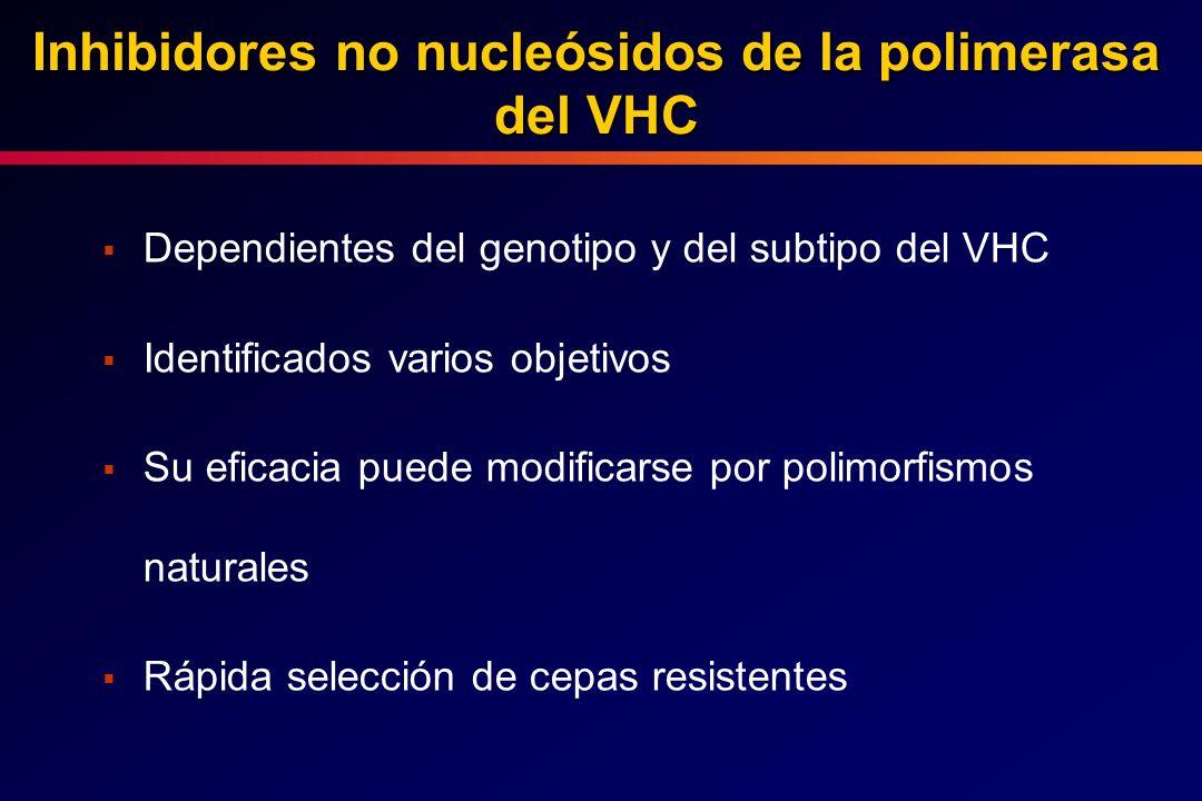 Inhibidores no nucleósidos de la polimerasa del VHC