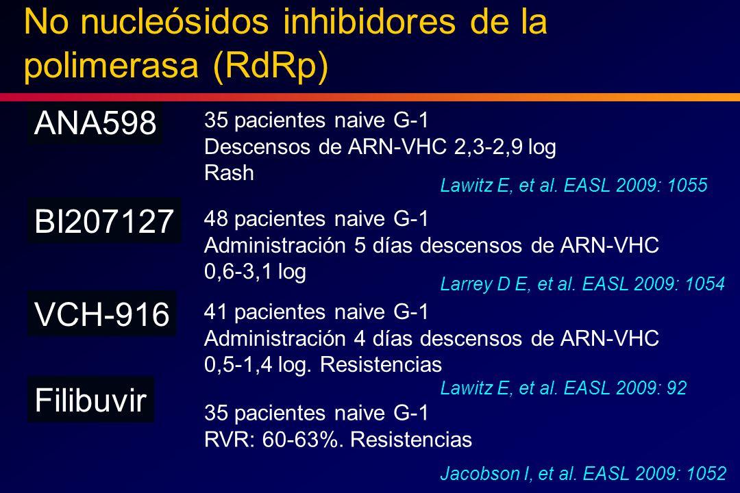 No nucleósidos inhibidores de la polimerasa (RdRp)