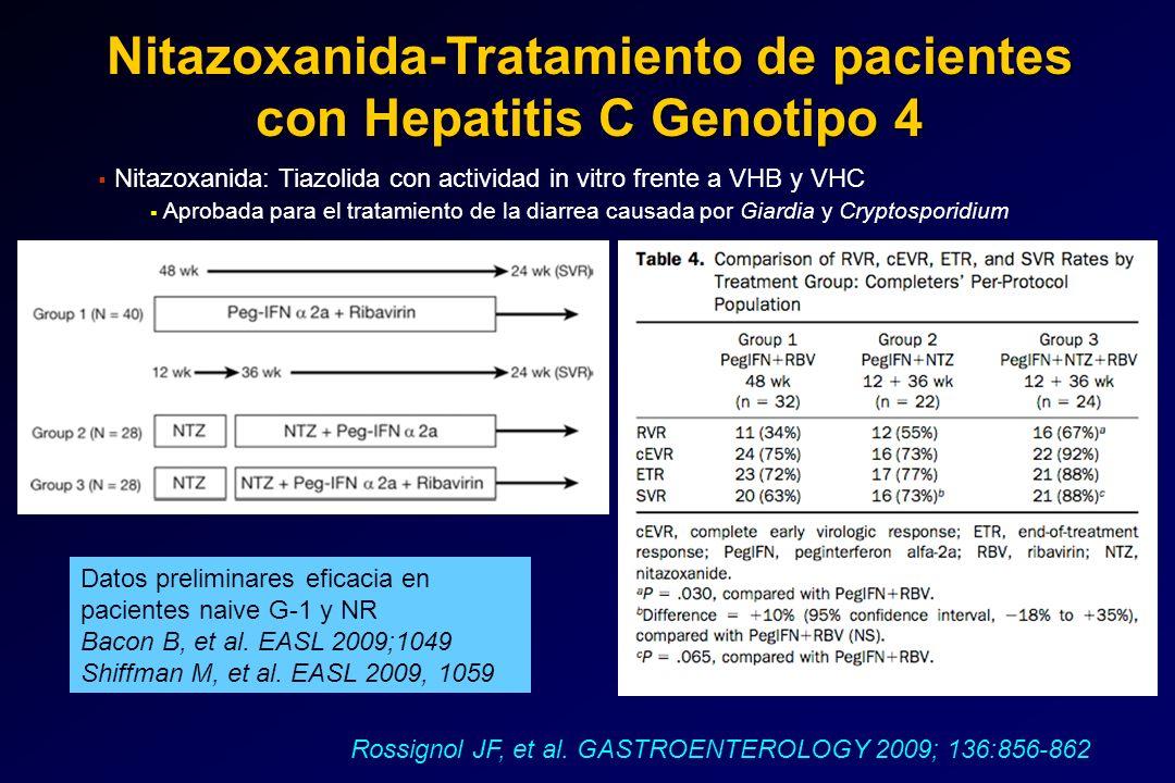 Nitazoxanida-Tratamiento de pacientes con Hepatitis C Genotipo 4