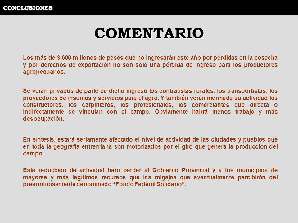 COMENTARIO CONCLUSIONES