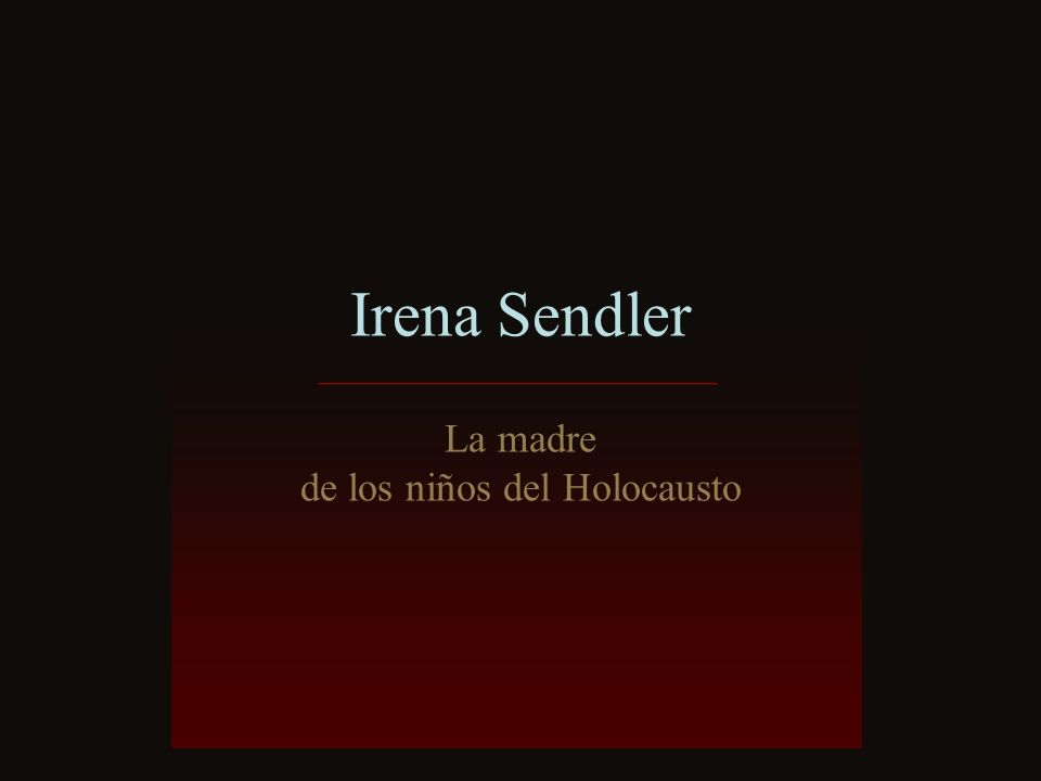 de los niños del Holocausto