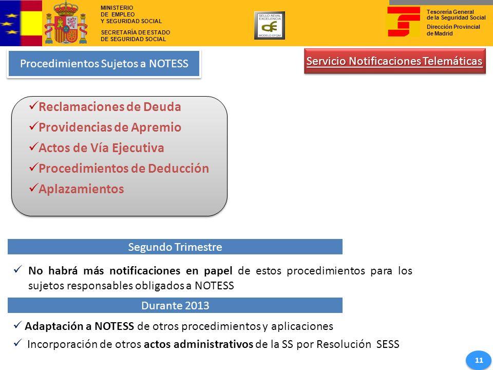 Reclamaciones de Deuda Providencias de Apremio Actos de Vía Ejecutiva