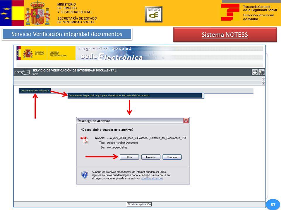 Servicio Verificación integridad documentos