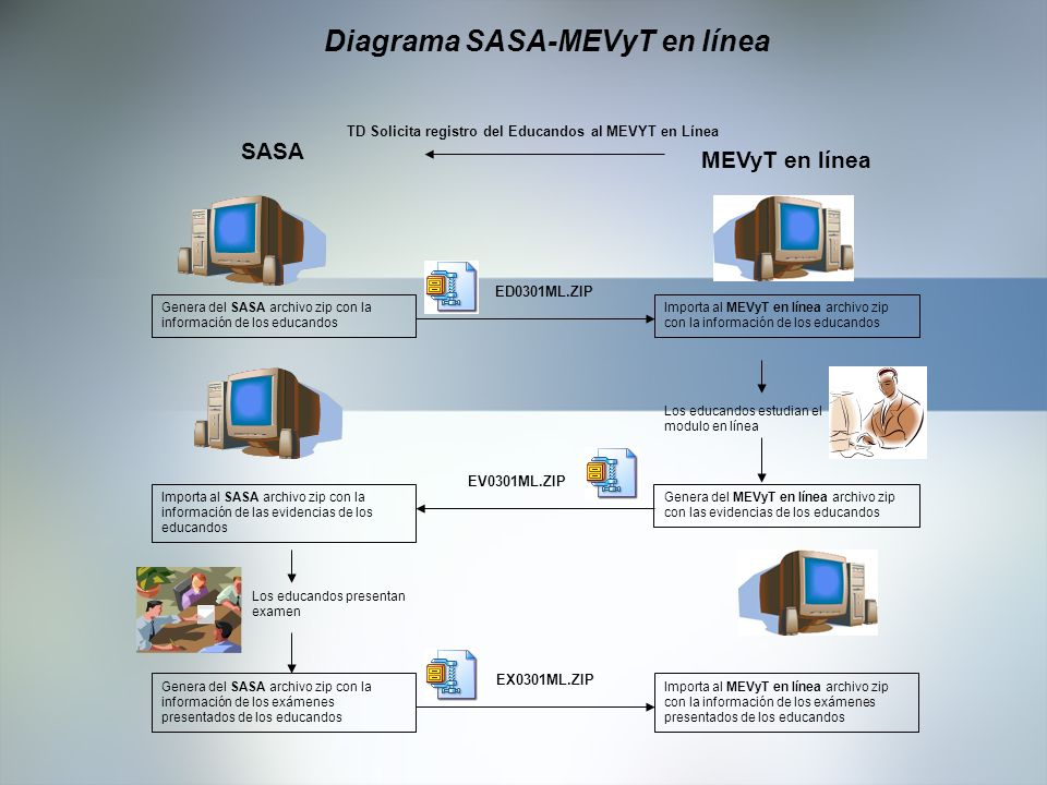 Diagrama SASA-MEVyT en línea