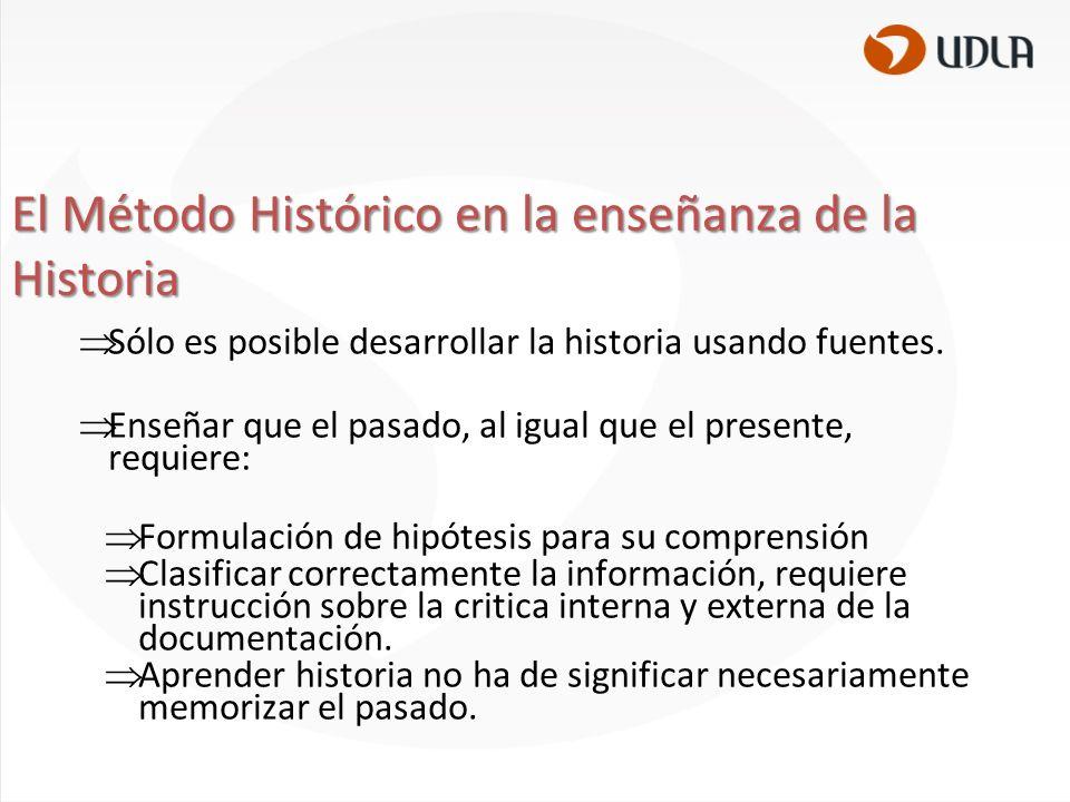 El Método Histórico en la enseñanza de la Historia