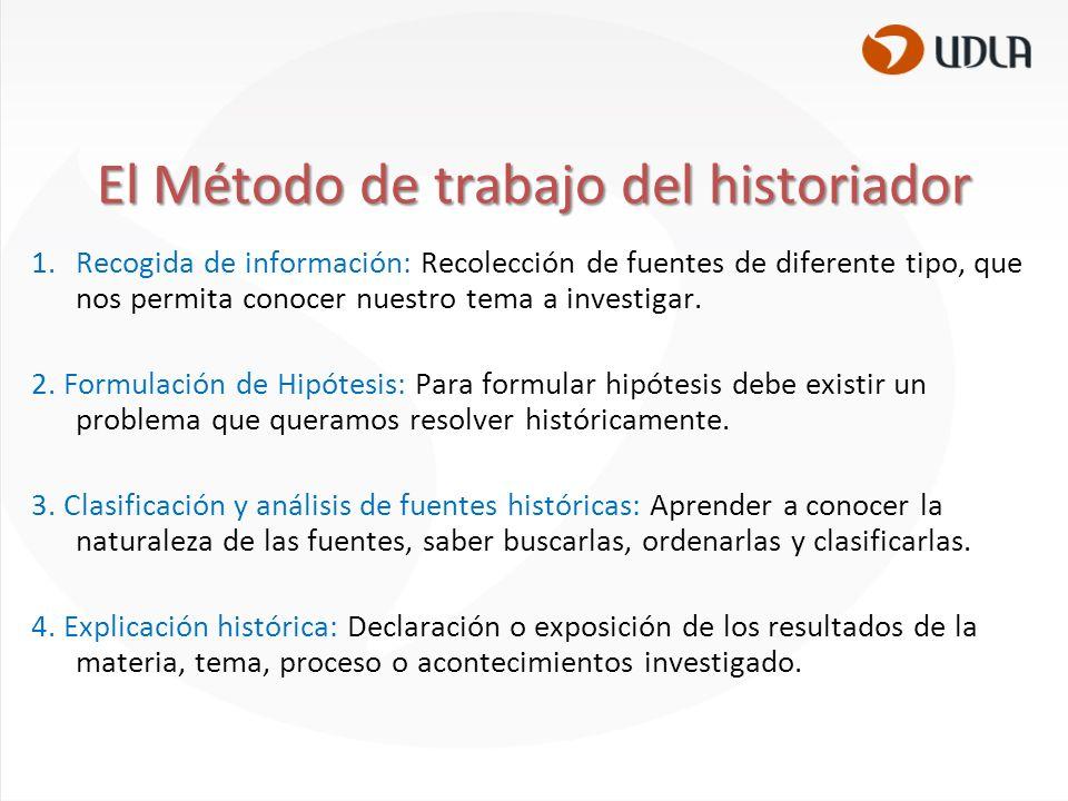 El Método de trabajo del historiador