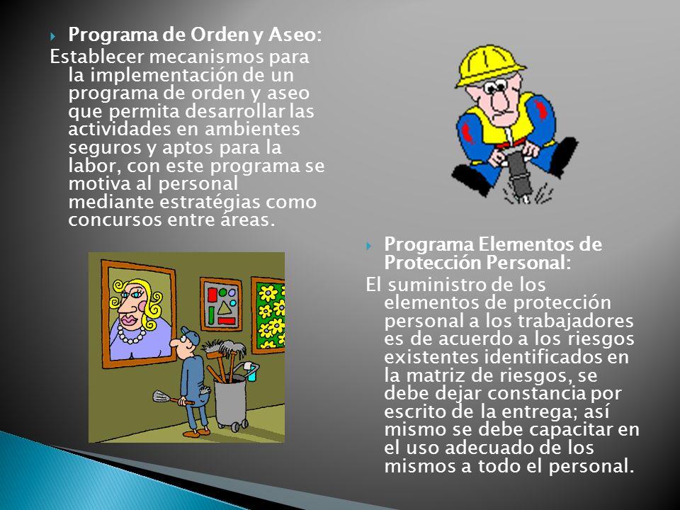 Programa de Orden y Aseo: