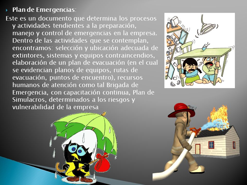 Plan de Emergencias: