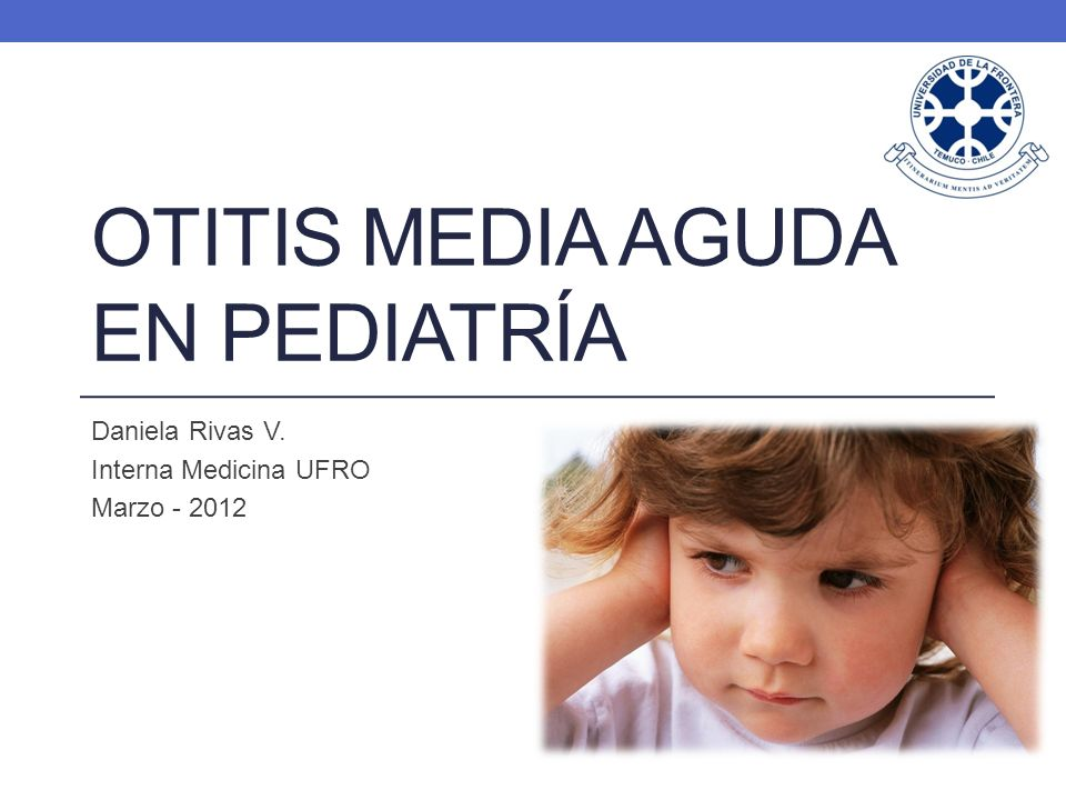 Otitis media aguda en pediatría