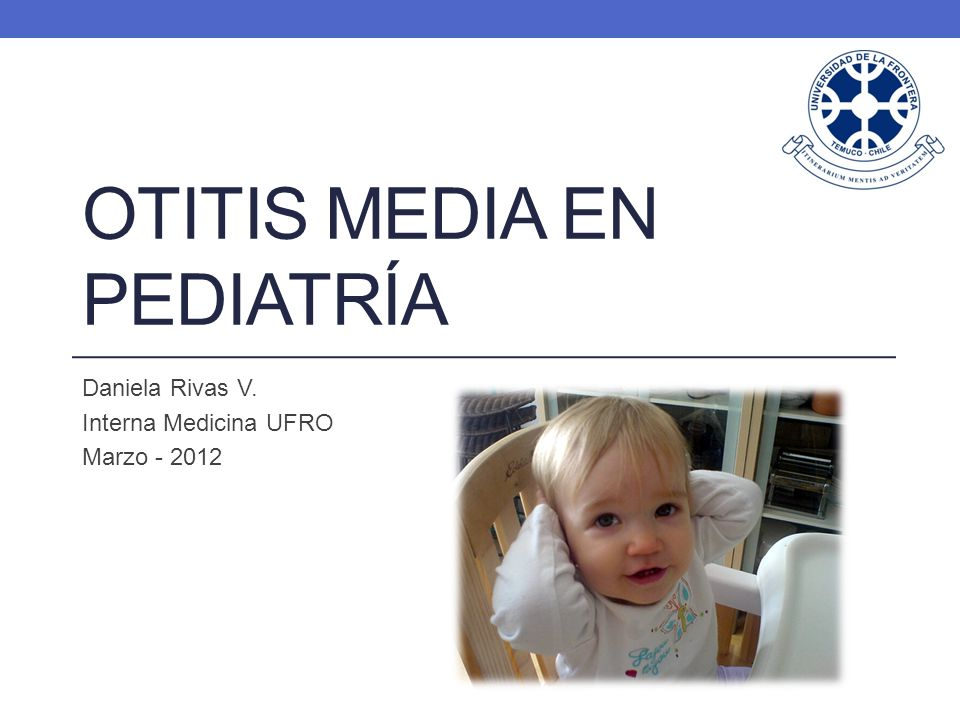 Otitis media en pediatría