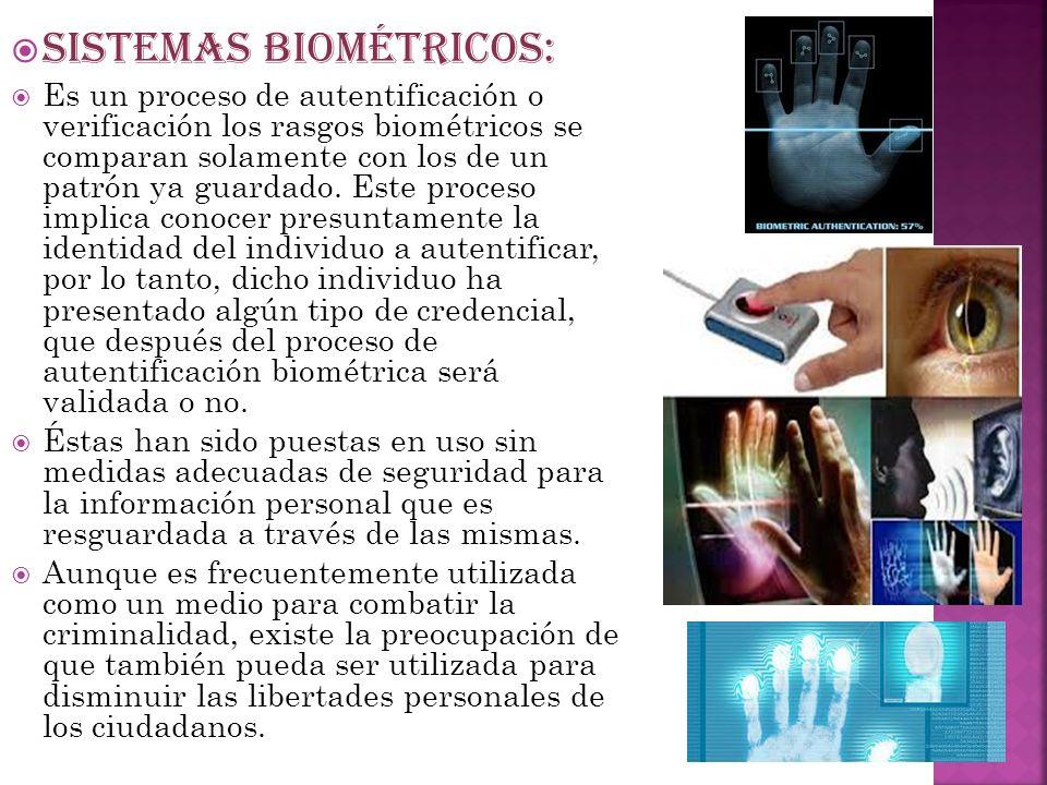 SISTEMAS BIOMÉTRICOS: