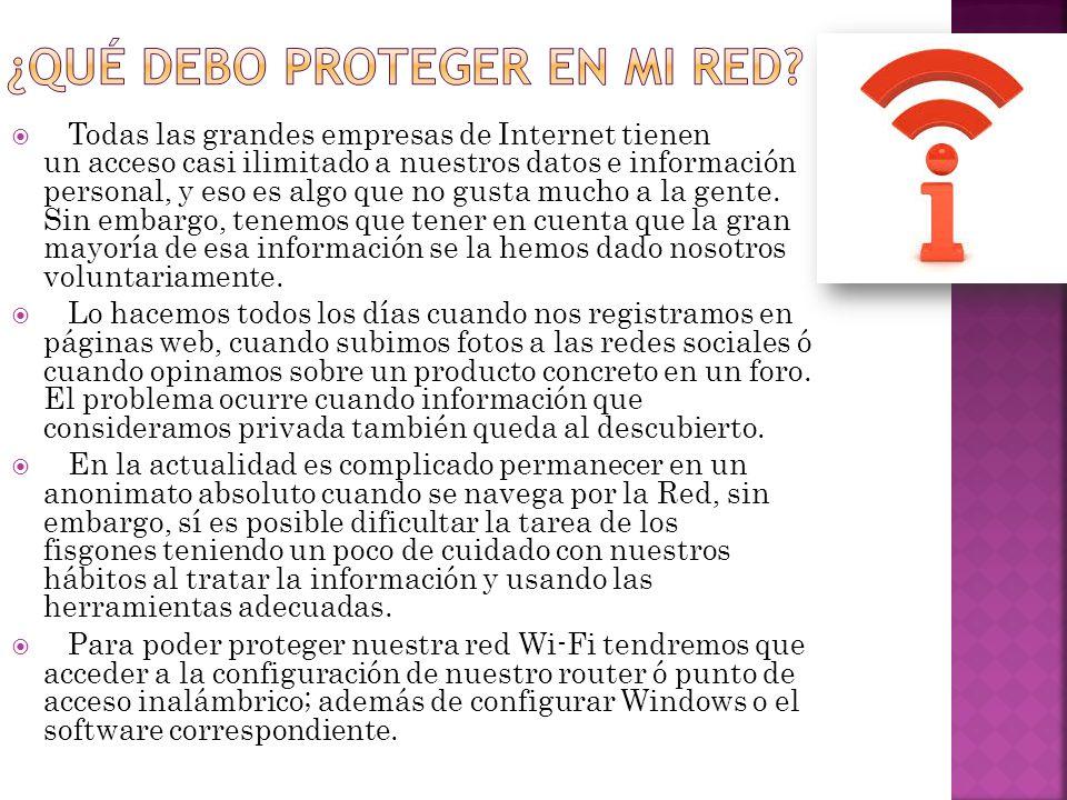 ¿Qué debo proteger en mi Red