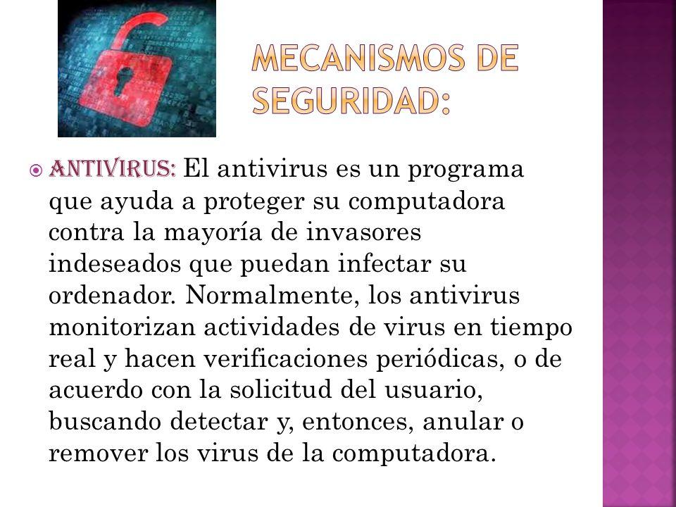 Mecanismos de seguridad: