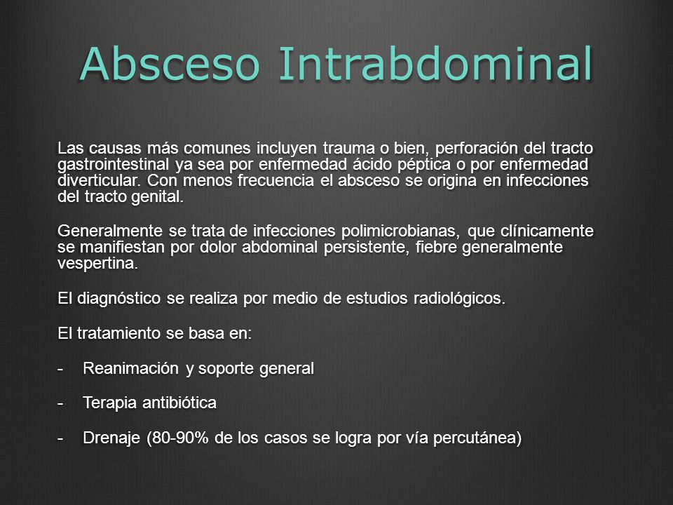 Absceso Intrabdominal