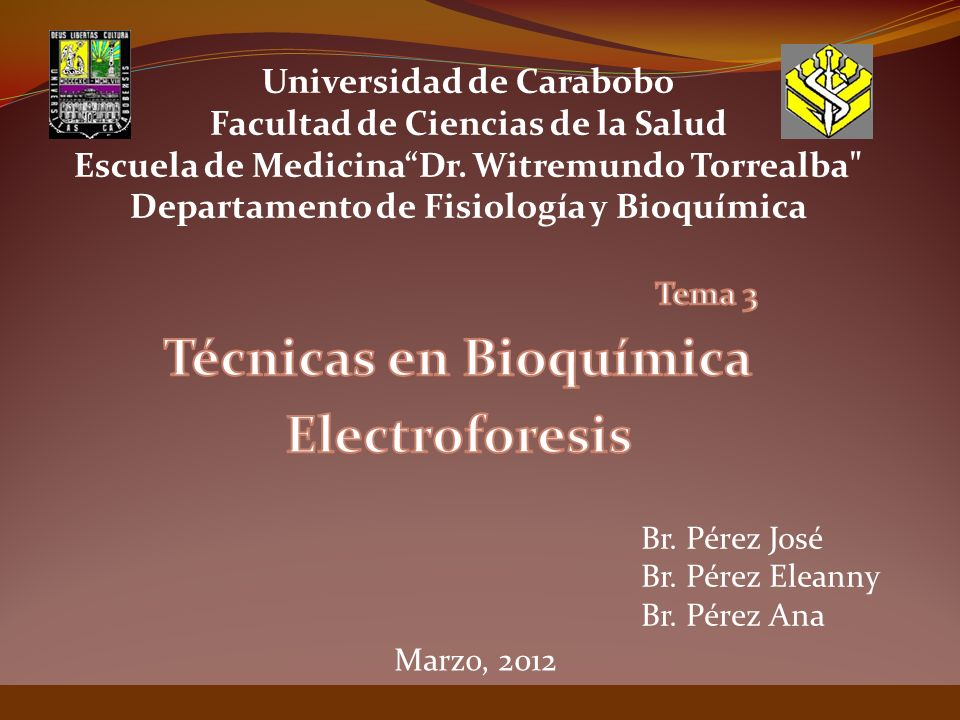 Tema 3 Técnicas en Bioquímica Electroforesis