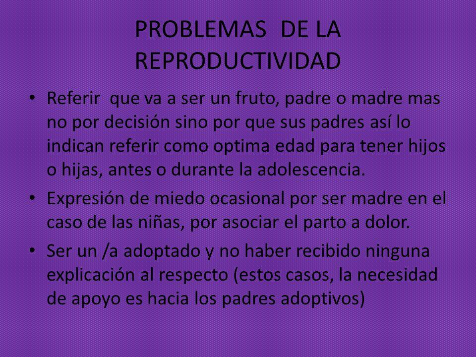 PROBLEMAS DE LA REPRODUCTIVIDAD