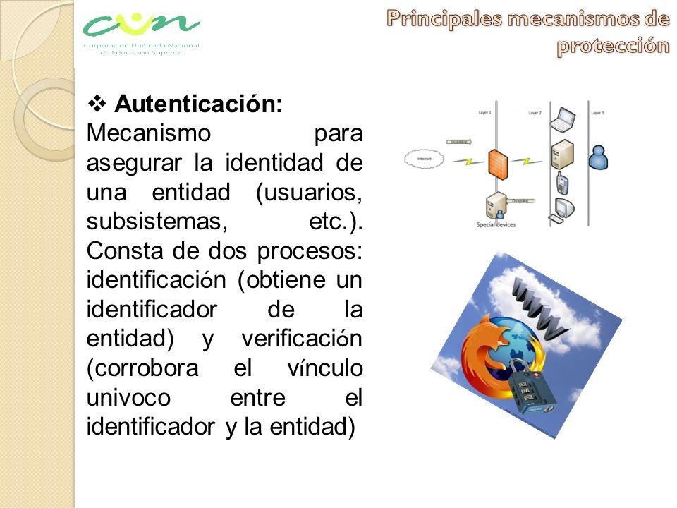 Principales mecanismos de protección