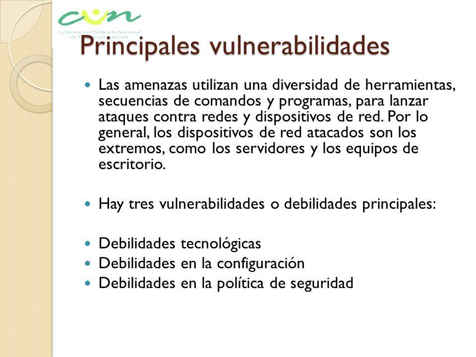 Principales vulnerabilidades
